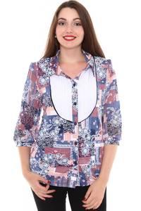 Рубашка с коротким рукавом с принтом Н8418