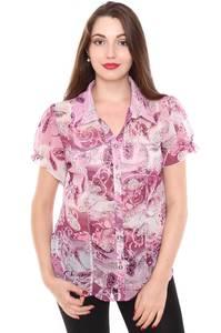 Рубашка прозрачная с коротким рукавом Н8420