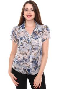 Рубашка с коротким рукавом с принтом Н8421