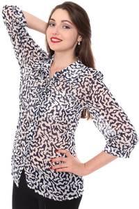 Рубашка прозрачная с длинным рукавом Н8424