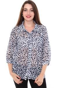 Рубашка прозрачная с коротким рукавом Н8425