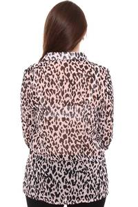 Рубашка прозрачная с коротким рукавом Н8426