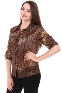 Рубашка прозрачная с коротким рукавом Н8427