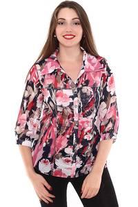 Рубашка с коротким рукавом с принтом Н8429