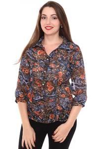Рубашка с коротким рукавом с принтом Н8430