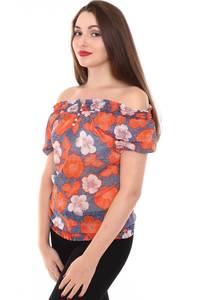 Блузка летняя с цветочным принтом Н8449