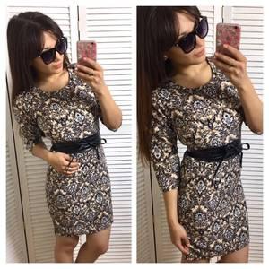 Платье короткое повседневное нарядное П3377
