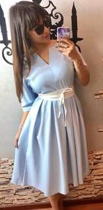 Платье короткое летнее нарядное П3407