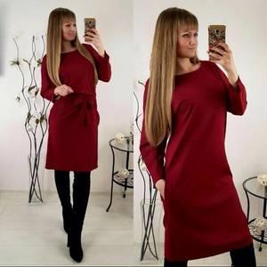 Платье короткое современное красное П3448