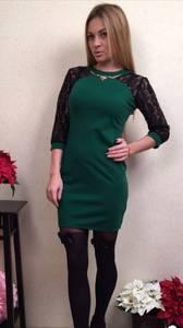 Платье короткое вечернее нарядное П3464