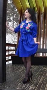 Платье короткое классическое с принтом П3474