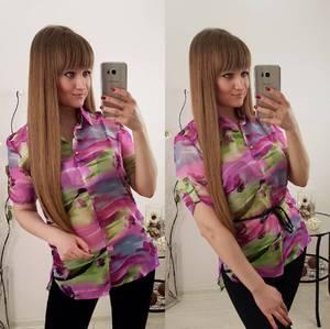 Блуза летняя с коротким рукавом С8023
