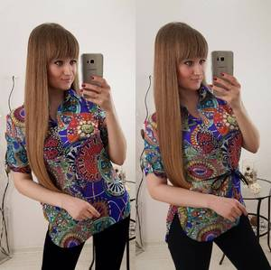 Блуза летняя с коротким рукавом С8024