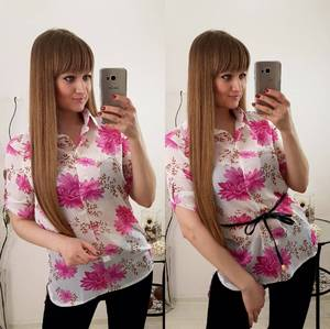 Блуза летняя с коротким рукавом С8025