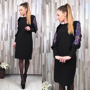 Платье короткое футляр классическое С8646