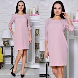 Платье короткое футляр классическое С8645