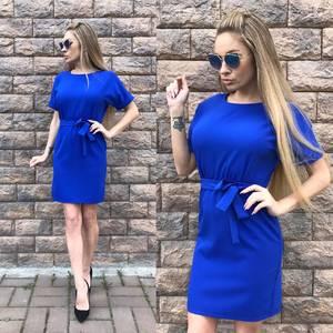 Платье короткое однотонное классическое С9567