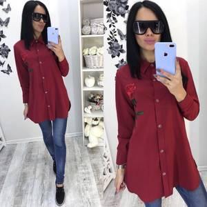 Рубашка красная с длинным рукавом С9516