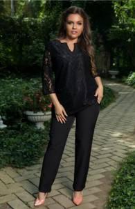 Костюм черный деловой модный С9970
