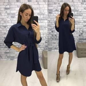 Платье короткое повседневное черное Т0272