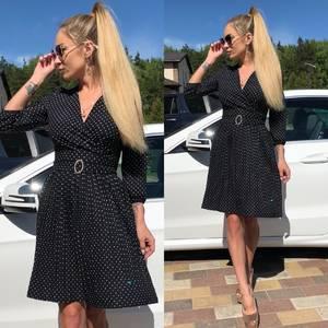 Платье короткое коктейльное черное Т0733