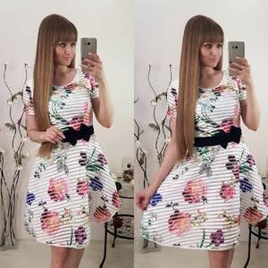 Платье короткое коктейльное белое Т1161