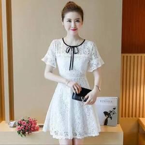 Платье короткое коктейльное белое Т1390