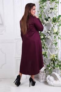 Платье длинное деловое однотонное С7798