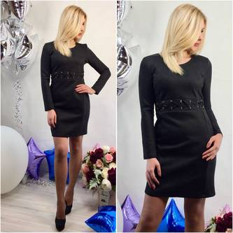 Платье короткое классическое современное Р2326