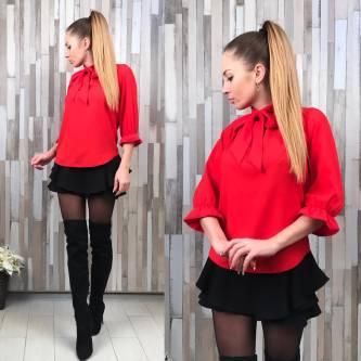 Блуза красная для офиса Р3704