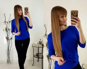 Блуза синяя для офиса Р2489