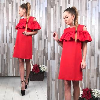 Платье короткое вечернее нарядное Р2273