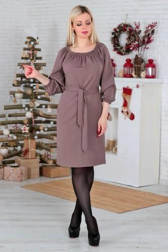 Платье короткое повседневное однотонное Р2298