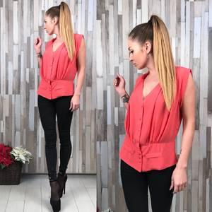 Блуза красная без рукавов Р4304