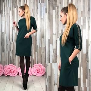 Платье короткое вечернее нарядное Р5474