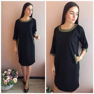 Платье короткое вечернее черное Р4940