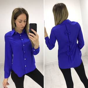 Рубашка синяя с длинным рукавом Р4816