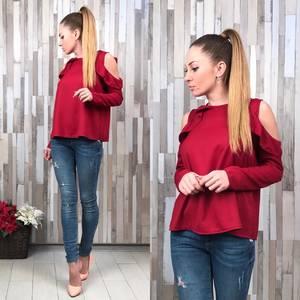 Блуза красная с длинным рукавом Р5387
