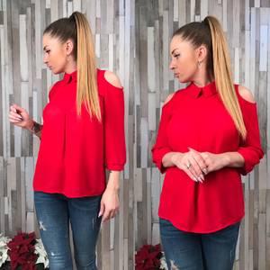 Блуза красная с длинным рукавом Р6469
