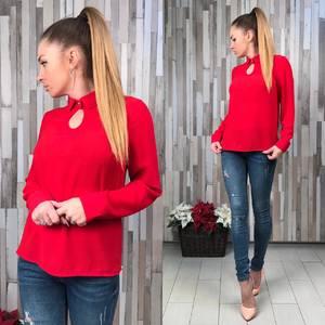 Блуза красная с длинным рукавом Р6474