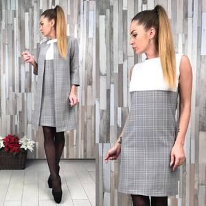 Платье Двойка короткое современное повседневное Р7495
