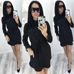 Платье короткое современное черное Р8169