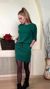 Платье короткое повседневное трикотажное Р8461