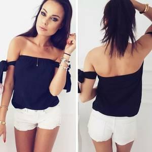 Блуза летняя черная Р9148