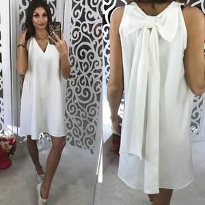 Платье короткое вечернее белое Р9150