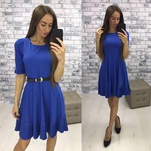 Платье короткое синее вечернее Р9510