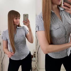 Рубашка в полоску с коротким рукавом Р9601