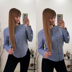 Рубашка в полоску с длинным рукавом Р9618