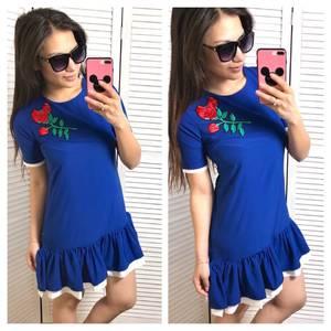 Платье повседневное синее короткое С0572