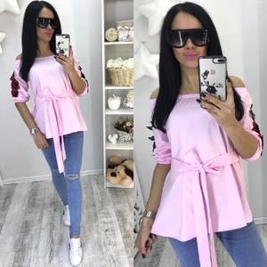 Блуза летняя розовая С0669